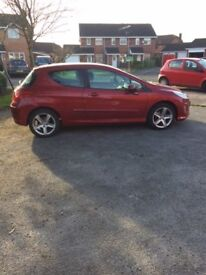 Peugeot 308S, 2008 (58 Plate), Very low mileage for year, excellent condition.