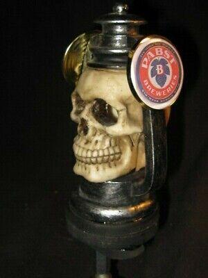 beer tap handle lighted skull pabst blue ribbon