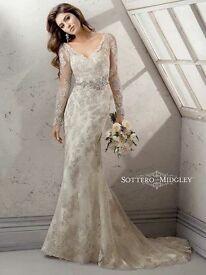 Maggie Sottero 'Anastasia' wedding dress in Pewter UK 14