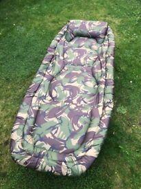 TF Gear Camo Carp Fishing 6 leg Bedchair