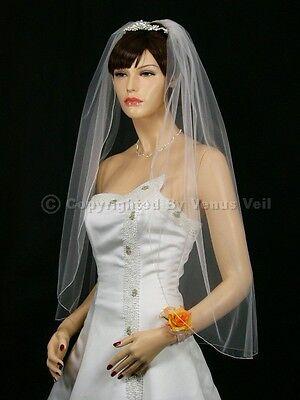 Bridal Fingertip Tiara (1T White Wedding Bridal Fingertip Pencil Tiara)