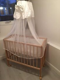 Baby bed/cot/crib for sale - very good condition - bargain at £50 cash
