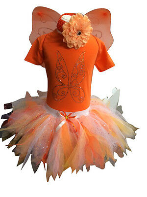 Neon Tutu Tinkerbell SET 80S Fancy Dress Costume Sparkle Baby Toddler Wings - Toddler 80s Costume
