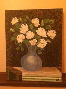 Floral ART - Acrylic Paintings - $50