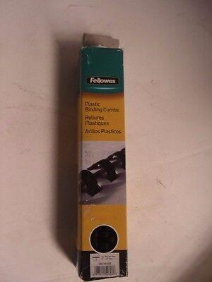 Fellowes Crc52323 Binding Combs 12 Black Plastic 077511523236