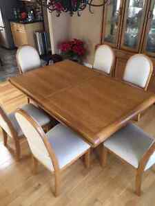 Dining Set Solid Oak with Buffet and Hutch
