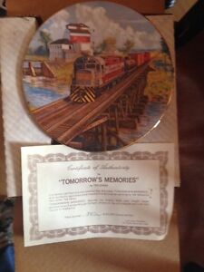 Collector PLATE C.Bell Age of Steam Tomorrow's Memories