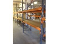 15 bay run of dexion pallet racking 2.4M high( storage , shelving )