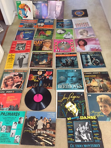 Collection de 30 disques en vinyle 33 tours