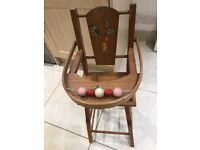 Dolls High Chair beautiful old collectors piece?