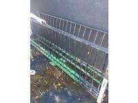 Wrought iron railings x2
