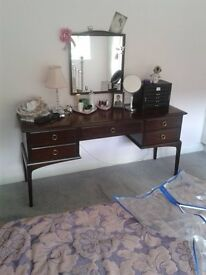 Stag dressing table and separate matching mirror