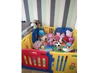 6 panel play pen for baby