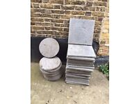 Paving Slabs - Round (10) and Square (23).