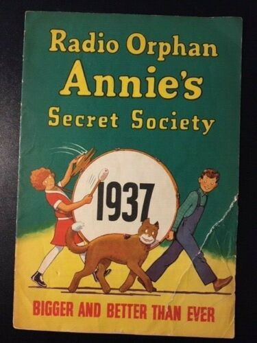 Vintage 1937 - Little Orphan Annie Club Manual