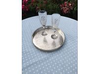 Silver Plated Drinks/Dinner Tray
