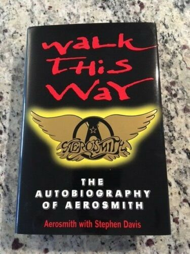 AEROSMITH SIGNED WALK THIS WAY 1997 FIRST EDITION BOOK BY ALL 5