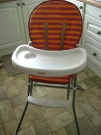 Baby's high chair, excellent clean condition, little used.