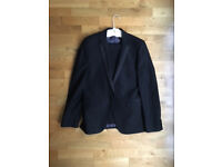 Ventuno 21 Black Tuxedo Dinner Jacket Suit with Formal Shirt from Moss Bros