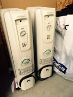 PORTABLE HEATERS- USED 4 TIMES, LIKE NEW