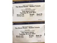The stone roses seated tickets, Leeds 20th june