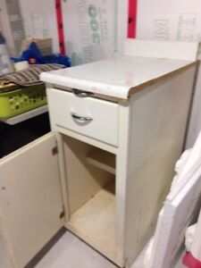 Kitchen cabinet section - Used, rugged-built, real wood