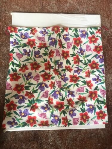 A SINGLE (1) Salvatore Ferragamo FLORAL  Shoe DUST BAG 16 inches by 16 inches
