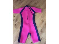 Wet suit for young girl