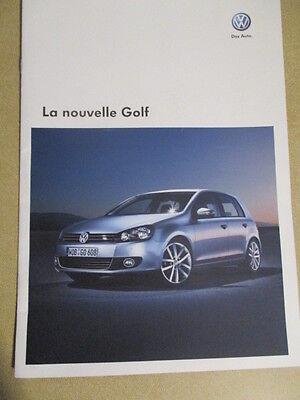CATALOGUE AUTO : VW VOLKSWAGEN : LA NOUVELLE GOLF 09/2008 + TARIFS