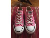 Ladies Pink Converse size 3.5