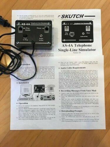 Skutch AS-4A telephone line simulator skutch box 4957-136