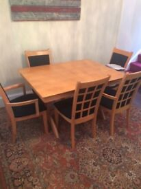 Dining Table & Chairs - £75 ONO