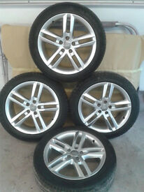 GENUINE VW Audi A6 S Line 18 inch alloy wheels and MICHELIN tyres 245 45R 18 VGC