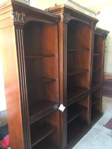 Executive 3-Pc Solid Wood Bookshelves for Your Office or Library