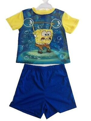 SpongeBob SquarePants Pajamas 2 pcs Set Baby Toddler Kid's Boys Girls Sleepwear - Spongebob Squarepants Pajamas
