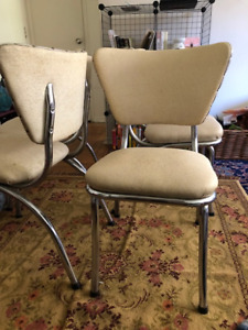 (Gold glitter!) vintage vinyl chairs