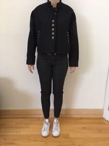 Manteau court H&M en laine noir