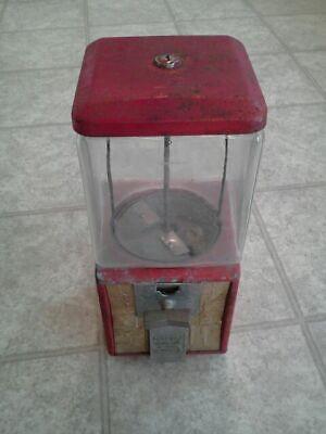 1¢ & 5¢ Northwestern Candy/Gumball Vending Machine w/ Embossed Glass Globe OM207