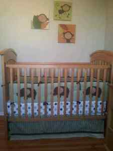 Crib Set- Kids Line Modern Elephant