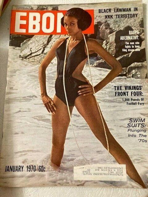 Vintage Ebony Magazine Jan 1970 Swimsuit Model Harriet Marshall