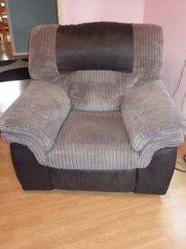 Charcoal/Black Solace Power Recliner