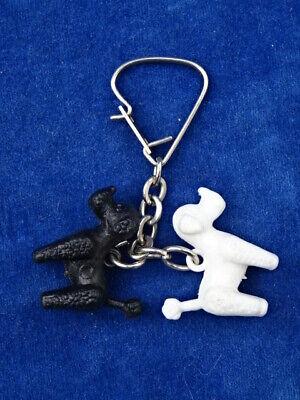 Mignon cute rare top +++ porte-cles key-ring - caniches poodles - chien dog