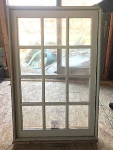 Beautiful aluminum clad pine window (cream) - new