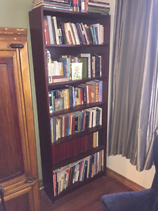 Tall Brown Bookcase