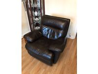 Brown Leather Electric Chair