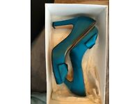 LK Bennet - Never worn tea-teal heels