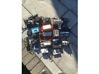 Collection of vintage cameras and equipment, for display or spares/repairs. SOLD AS NOT WORKING