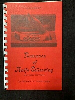1970 Romance of Knife Collecting Dewey P Ferguson Information Book USA CASE