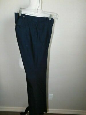Ann Taylor Size 6 Navy Blue Lined Virgin Wool Blend Career Pants