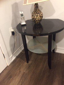Pair of Ikea round end tables